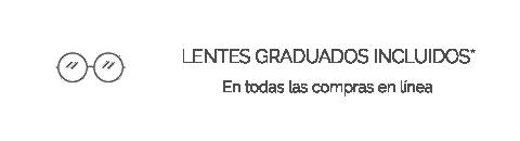 Lentes graduados incluidos